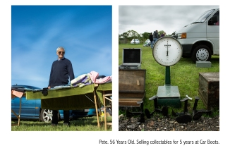 portrait, location, england, british, lifestyle, imagery, canon, britian, bournemouth, strangers, car boot, past time, selling, flash gun, diptych, text, people, life, culture, travel, photography, photographer, photo,